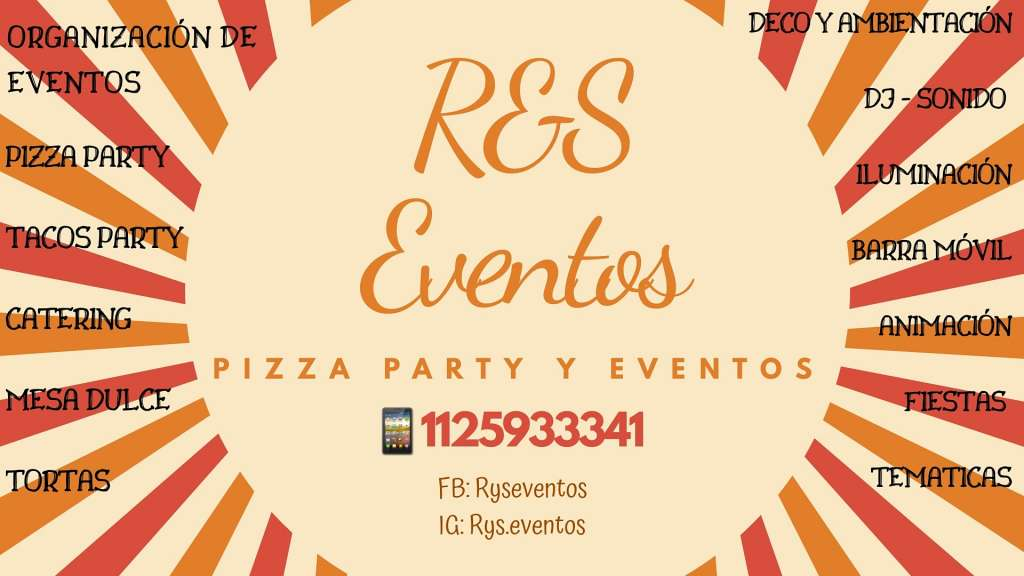R&S Eventos - Pizza party y eventos
